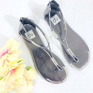 DV by Dolce Vita Silver Thong Sandals